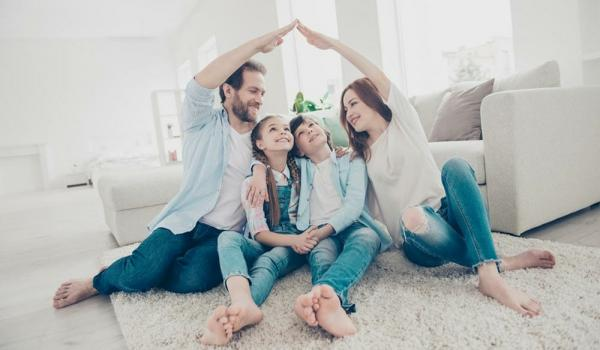 Family Discussing Insurance Cover Coronavirus