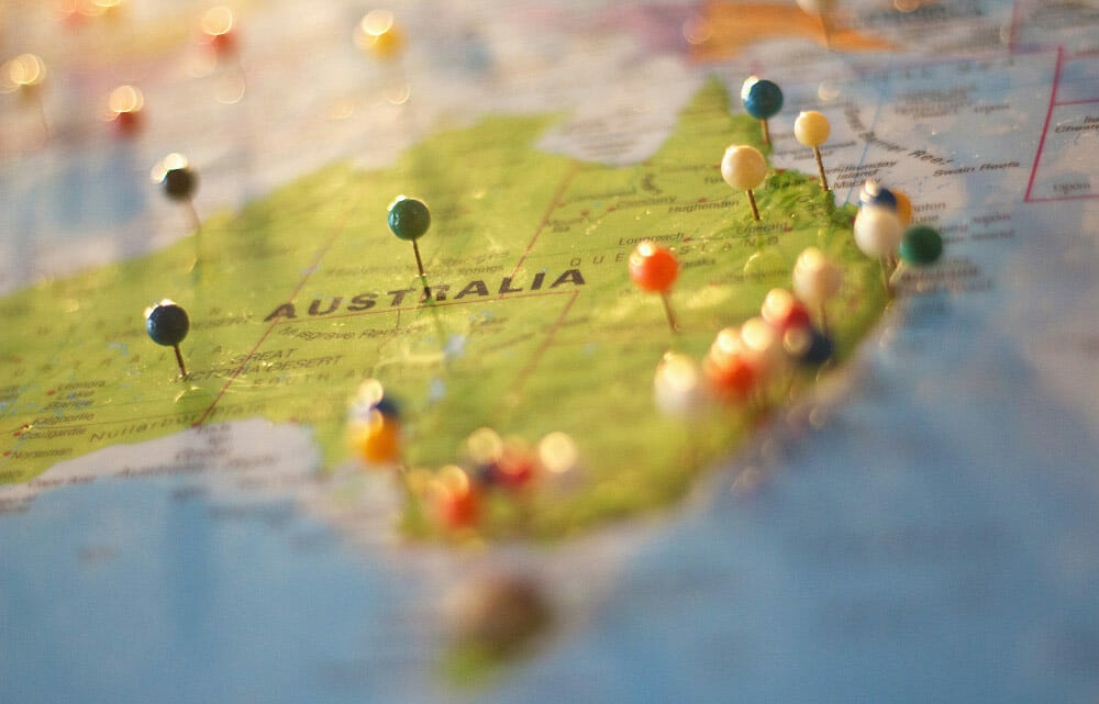 Traveling On A Budget With A Map Of Australia