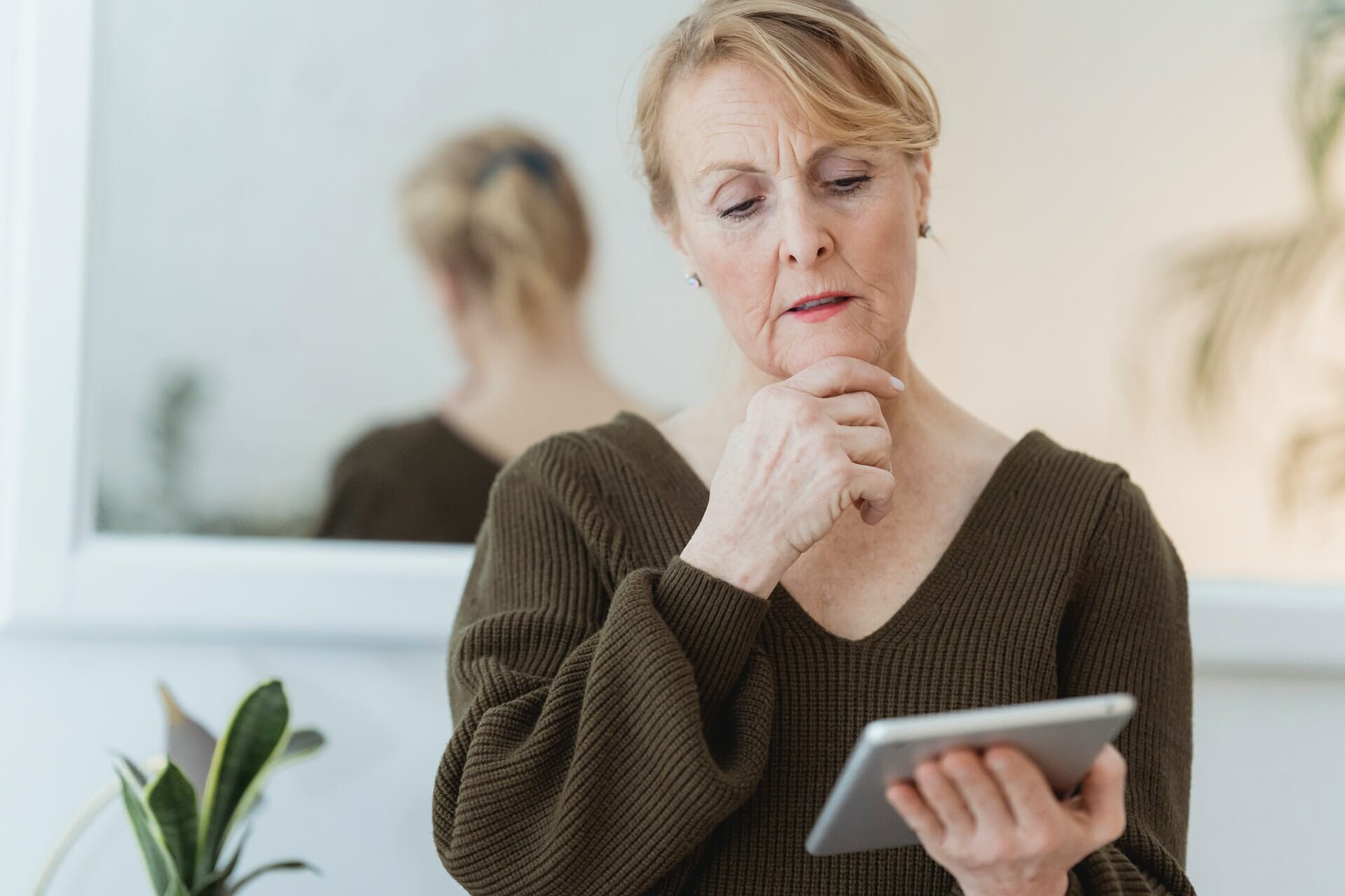 woman reviewing SMSF